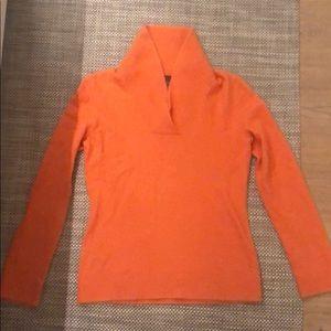 Women's orange sweater, small